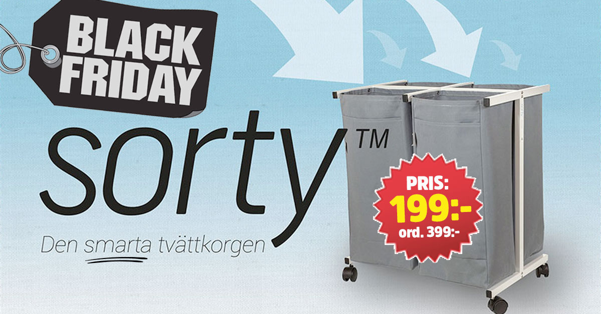 sorty smart tvättkorg black friday